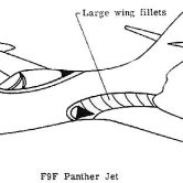 Large Wing Fillets in F9F Panther Jet Drawing