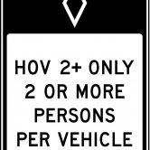 HOV Lane - US Standard Traffic Regulatory Sign