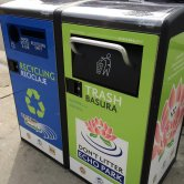 Bigbelly Trash and Recycle Bins - Front View