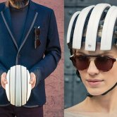 Collapsed vs. Uncollapsed Carrera Foldable C Bike Helmet