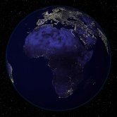 Satellite Image of Earth at Night Centered on Africa