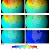 Ozone Layer Concentrations Over North America had CFCs Not Been Banned 1974-2060