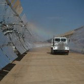 Cleaning of Solar Collectors with Water Truck - Solar Energy Generating Systems