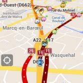 Waze app screenshot in 2012