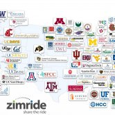 Universities and Colleges Using Zimride