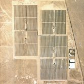 High Altitude View of Kramer Junction's 5 Solar Power Plants - SEGS