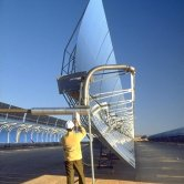 Side View of LS2 Solar Parabolic Trough at SEGS