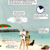 People Exposed to Ultraviolet Radiation on Beach