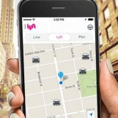 Page for Passenger to Request a Ride - Lyft App