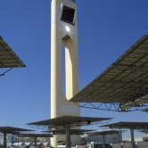 Heliostats and Tower - PS10 Solar Power Plant