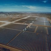 Aerial View of Kramer Junction's 5 Solar Power Plants - SEGS