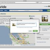 Upcoming Ride Profile Page with Message Box - Zimride App