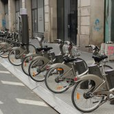 Bicycle Sharing System at Place de la Republique in Paris