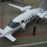 Piaggio P180 Avanti on the Ground - View from Above