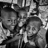 Kids in a Poor Neighbourhood in Mombasa - Kenya
