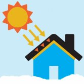 Label image for Increase Sunlight Absorption of Building Roofs in Cold Weather
