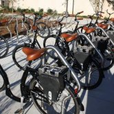 viaCycle Bicycles Parked in Bike Racks