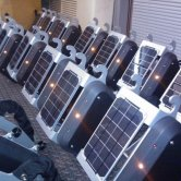 viaCycle Bicycle System Packs with Solar Panels during Testing