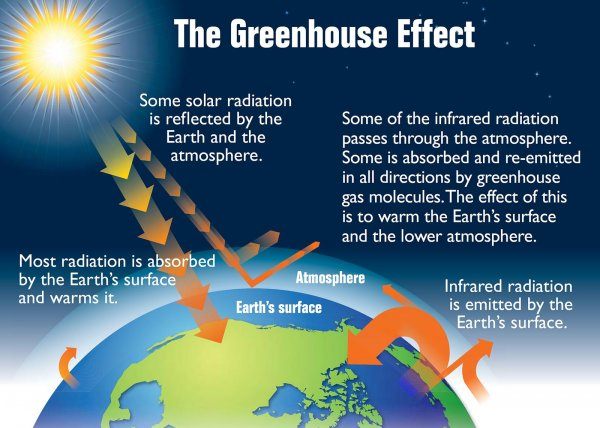 Earth's Greenhouse Effect - Diagram