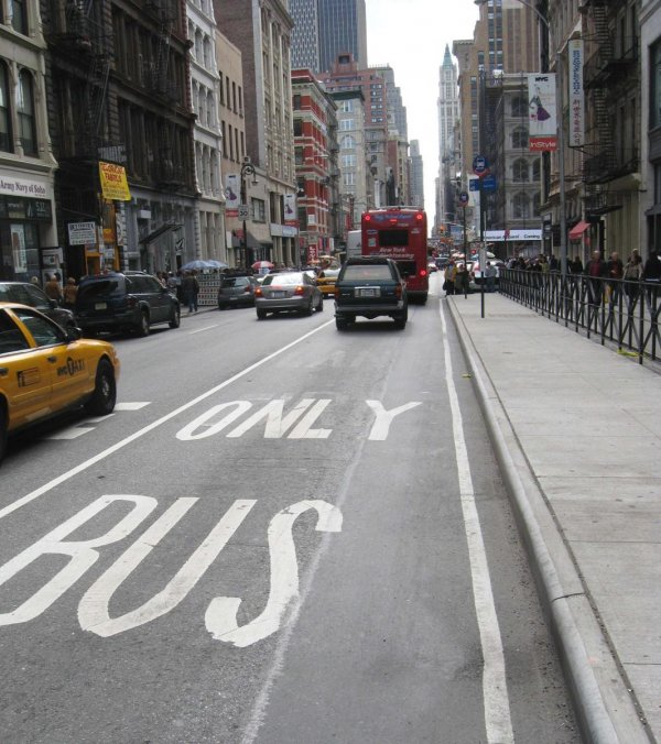 Bus Lane on Broadway - New York