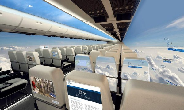 Windowless Airplane Cabin Concept by CPI
