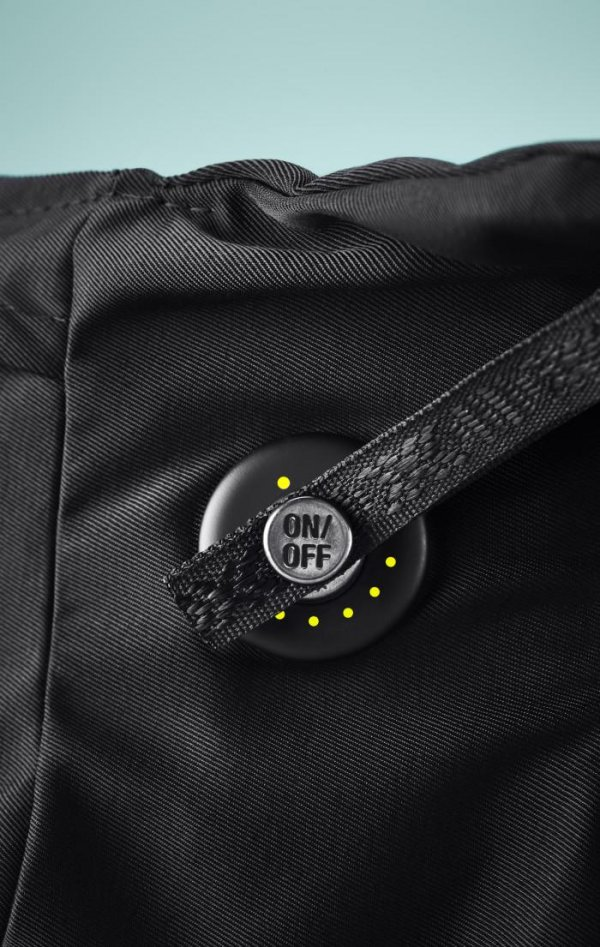 On-Off Button of Hovding Airbag for Cyclist