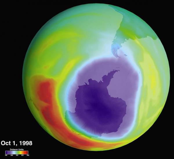 Hole in the Ozone Layer Over Antarctica