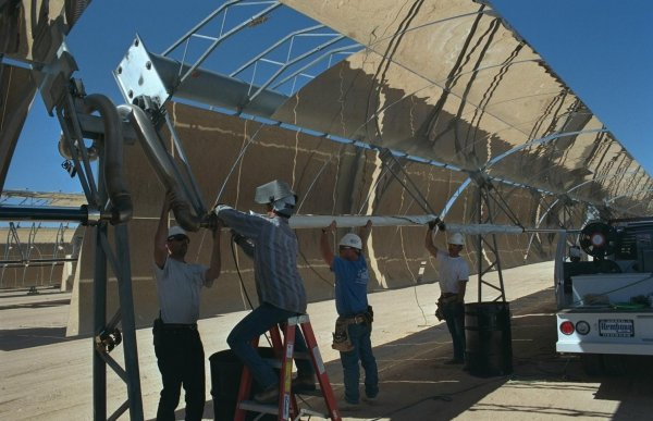 Installation of Receiver - Solar Energy Generating Systems