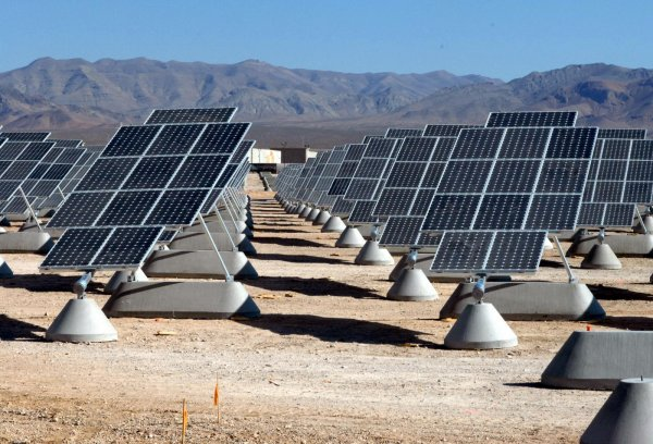 Tilted Single Axis Photovoltaics - Nellis Solar Power Plant