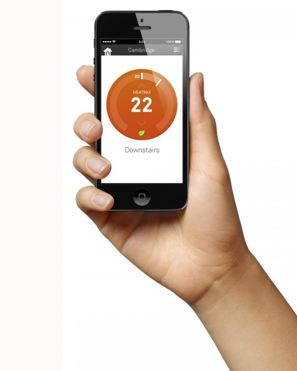 Nest Thermostat iPhone App with Heating Temperature Control