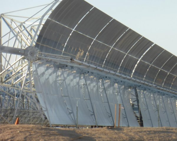 Parabolic Trough of the Mojave Solar Project