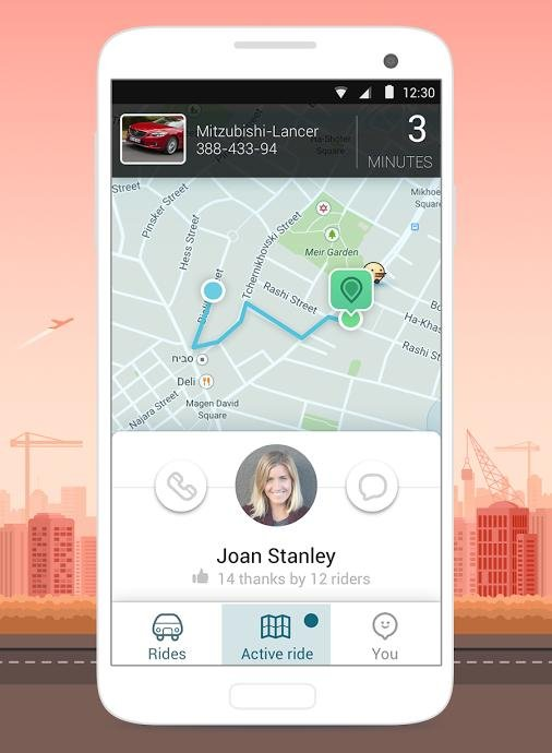 Waiting for a Ride to Arrive - Waze Rider App